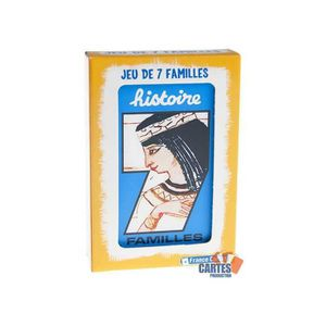 CARTES DE JEU Jeu des 7 Familles Histoire - Jeu de 42 cartes