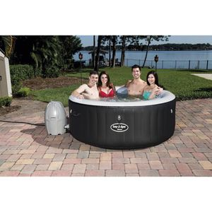 jacuzzi spa gonflable 4 places achat vente jacuzzi spa gonflable 4 places pas cher cdiscount. Black Bedroom Furniture Sets. Home Design Ideas