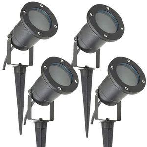 230v jardin projecteur sol installation lampes inoxydable piso gu10 pour halogènes et LED