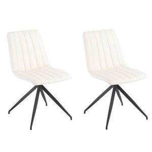 design Lot revêtement de 2 polyuréthane chaises PU ELSBJERG 0kP8NnwOXZ
