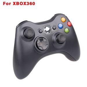 JOYSTICK JEUX VIDÉO Manette sans fil noire Xbox 360