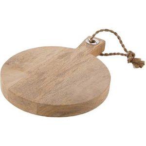 PLANCHE A DÉCOUPER Planche à découper rond en bois avec poignée - Dim