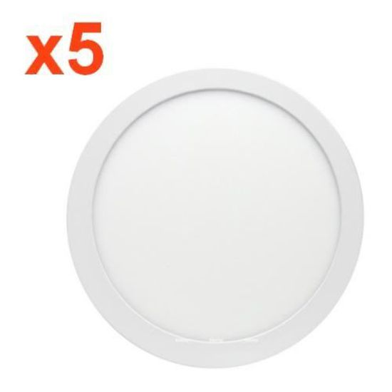 Plafonnier LED Rond 6W 220V 8000K Blanc Froid 6000K