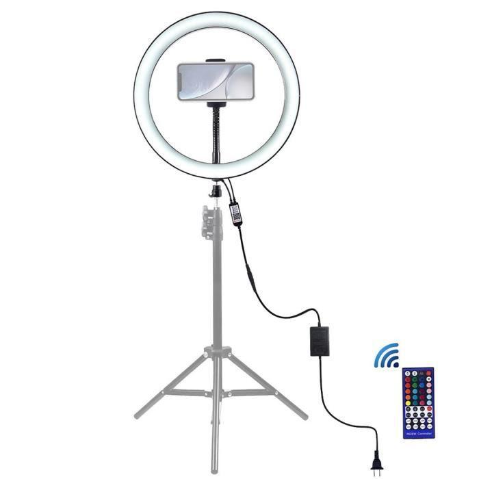 Light Ring 9 Pouces avec Téléphone Support Berceau Tête 8 Light Modes Rgb Led Vidéo Xjpl535