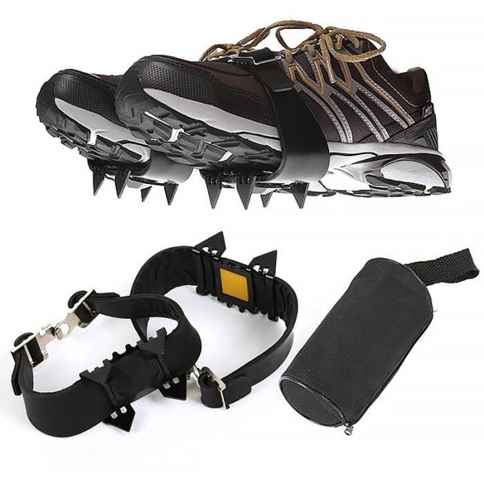Couvre-chaussures extérieur antidérapant à quatre dents, crampons simples pour l'escalade sur neige