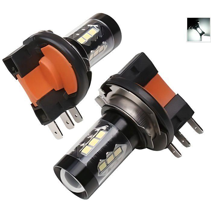 H15 LED Ampoules 80W SMD Feux de jour antibrouillard 6000K