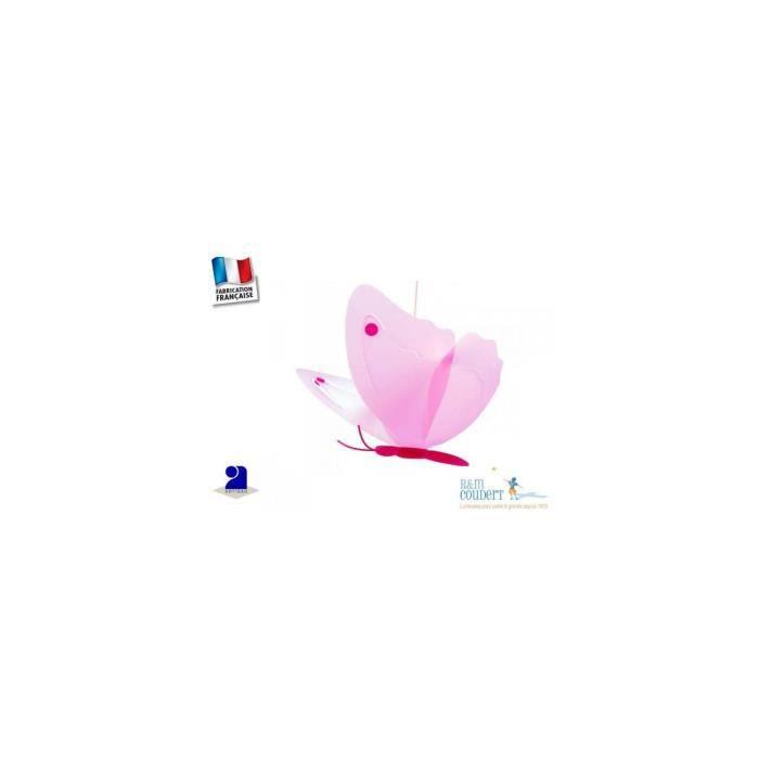 PAPILLON-Suspension L42cm rose et framboise Rosemonde et Michel Coudert - designé par Rosemonde et Michel Coudert