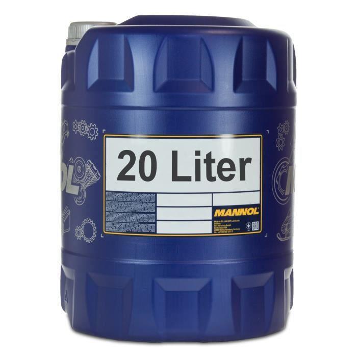 20 litres d'huile moteur universelle MANNOL 15W-40