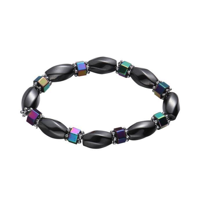 1 pc Bracelet De Mode Décoratif Créatif À La Main Hématite Magnétique Perle Bracelets pour Femmes BRACELET - GOURMETTE - RING