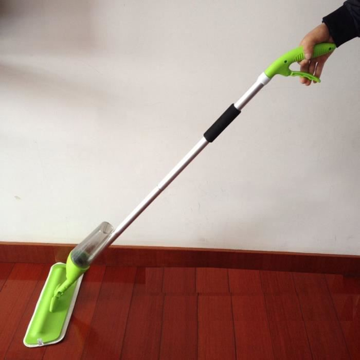 Balai Vapeur Avec Pulvérisation Multi-Fonction nettoyeur Vadrouille en microfibre vert