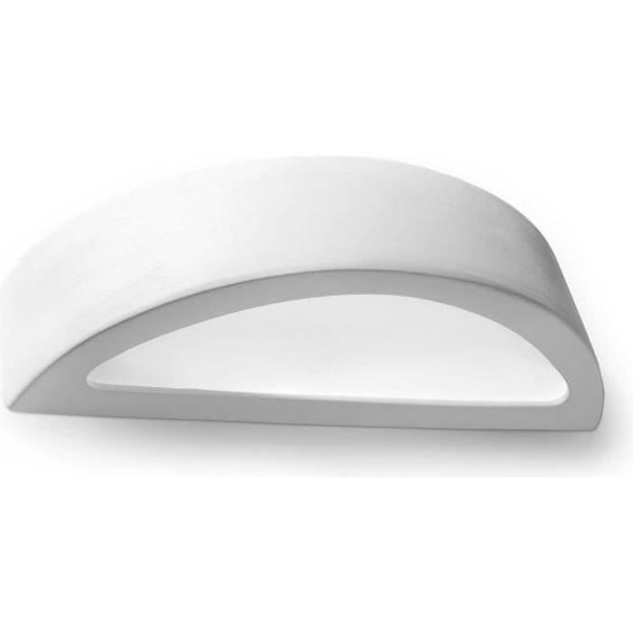 Applique Murale Céramique ATENA E27 Lampe Murale Moderne boho Design pr Chambre Salon Escalier Couloir - Blanc