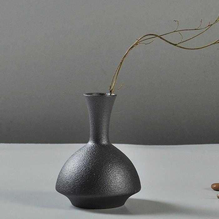Vase de fleur Céramique Noir Bureau Maison Decor Noel Art TYPE 2 Top14428