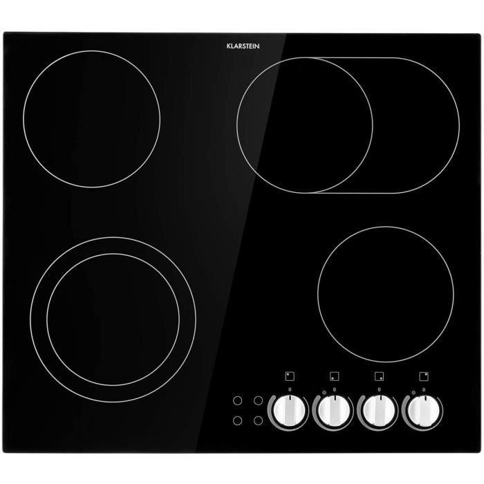 CUISSON tein EasyCook Table de cuisson vitroceacuteramique encastrable 58 cm 4 zones de cuisson 1 x 1000W et 1100W 2 x 1200 W38