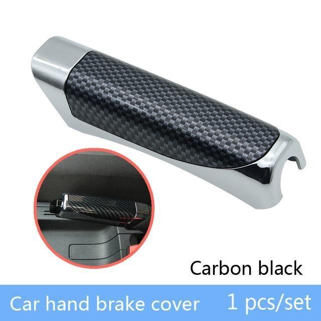 Décoration Véhicule,BOOMBLOCK voiture couvre frein à main en Fiber de carbone style pour VW Polo Golf 4 5 Passat - Type 1Pcs #A