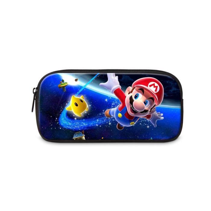 TROUSSE DE MAQUILLAGE Taille Design 10 Sac de rangement à motif de dessin animé Mario 3D, fournitures de papeterie pour enfants, s
