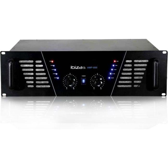 Amplificateur sono Dj 2 x 600W Max AMP-800