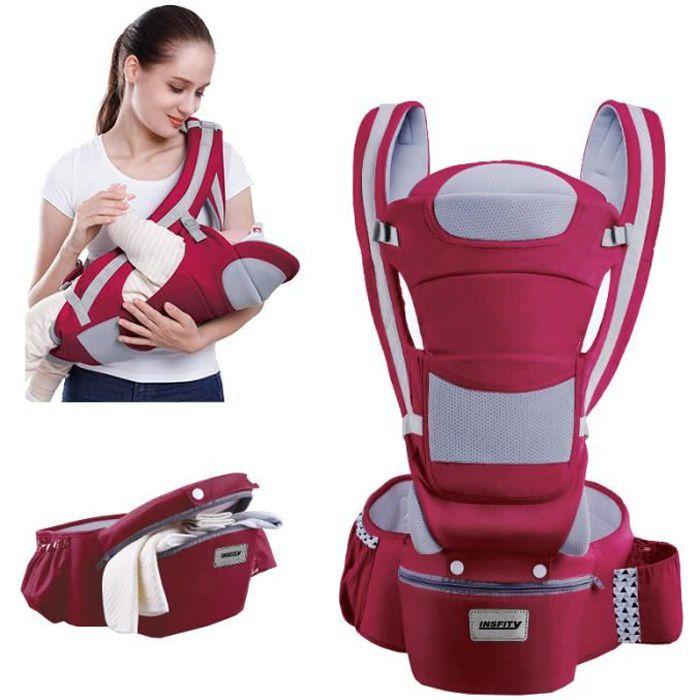 0-48 Mois Porte-bébé Multifonctionnel ventral et dorsal Voyage facile pour les bébés Multi-poches Doux La sécurité Pratique