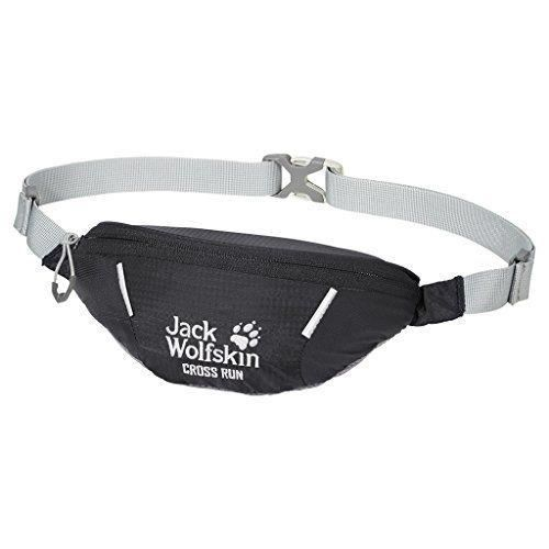 Jack Wolfskin Cross Run Bum Bag One Size Black - 2002412-6001_6001_10 x 22 x 8 cm, 0.3 Liter