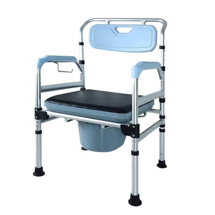 MCTECH Chaise percée WC de toilettes Chaise De Douche avec Embouts