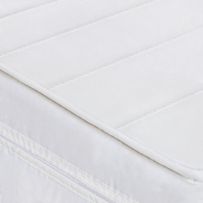 Matelas 160 x 200 matelas sommeil réparateur sans matière nocive confort ferme matelas housse lavable, épaisseur 15 cm