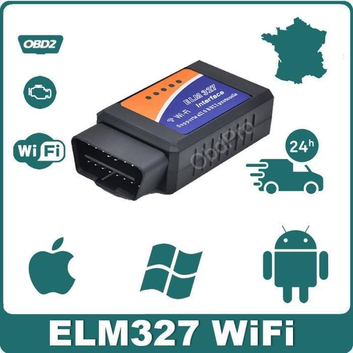 Interface/Valise Diagnostic Auto - ELM327 OBD2 WIFI - Diagnostique Multimarques - Lecture Effacement