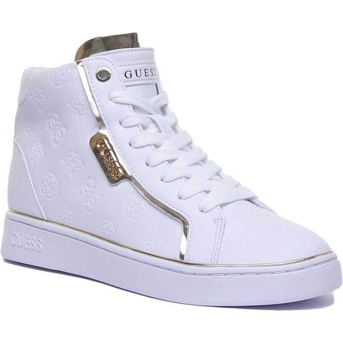Guess Fl7Brnele12 Chaussures De Tennis Blanches Pour Femmes