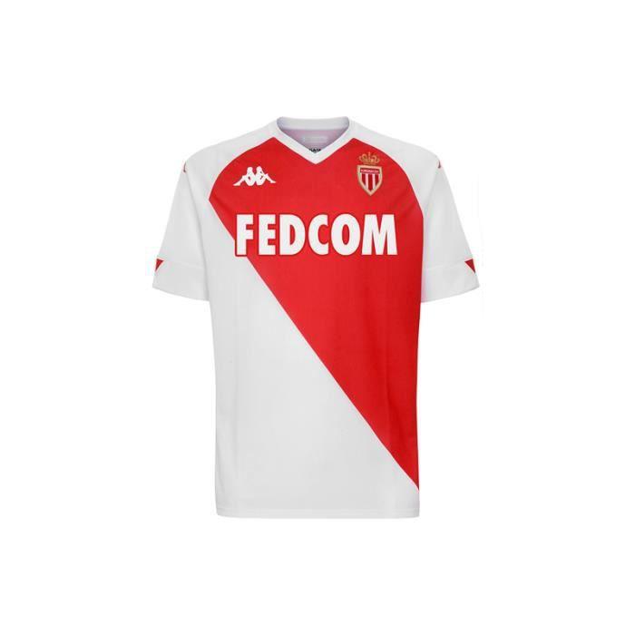 Maillot AS Monaco Domicile 2020-2021,Maillot de Foot Enfants Homme Ensemble Survêtements D'entraînement de Football