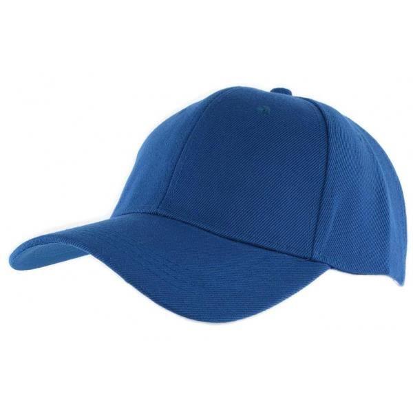 Casquette Baseball Bleu Roi - Bleu - Taille unique