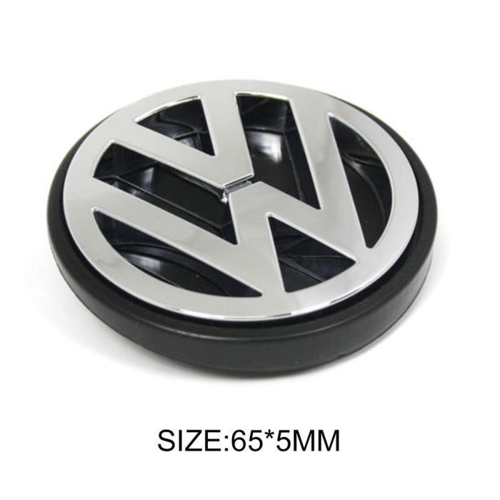 CAPUCHONS DE CENTRE DE ROUE VW CAPUCHON DE MOYEU DE JANTE POUR Volkswagen PASSAT Jetta GOLF Bettle, argent et noir, 65mm