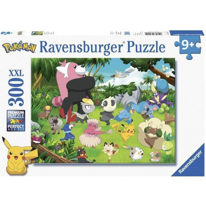 POKÉMON Puzzle 300 pièces XXL - Pokémon sauvages - Ravensburger - Puzzle Enfant 300 pièces - Dès 9 ans