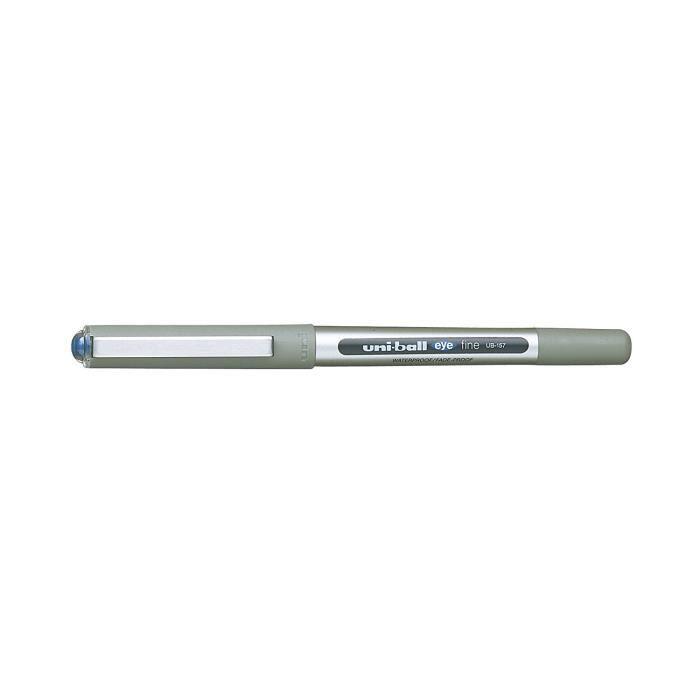 UNI-BALL Eye UB-157 Stylo roller Bleu [Lot de 3] Taille moyenne 0,7 mm balle: Fournitures de bureau