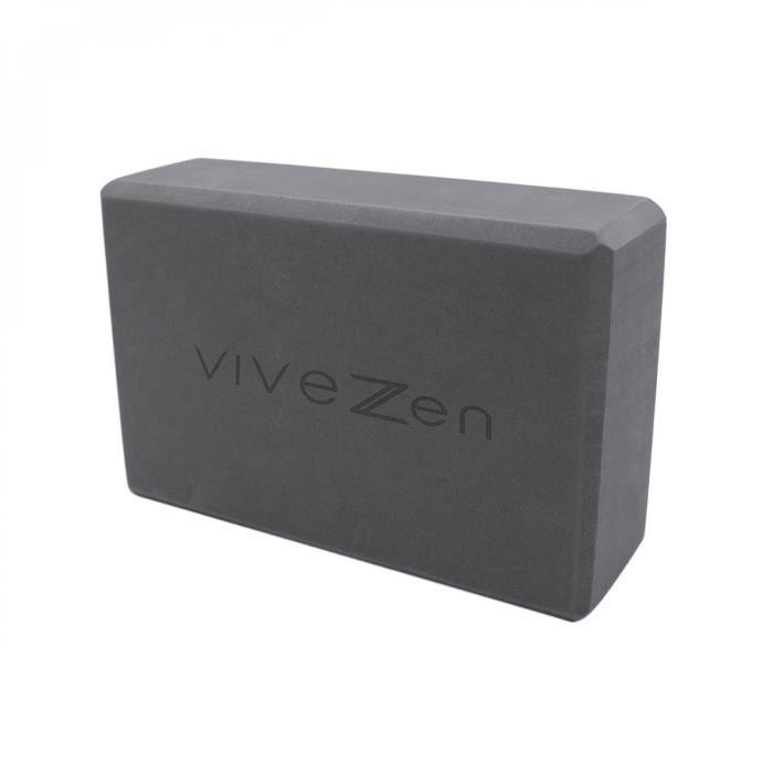 Brique, bloc de yoga 23 x 15 x 7,5 cm - EVA - Gris