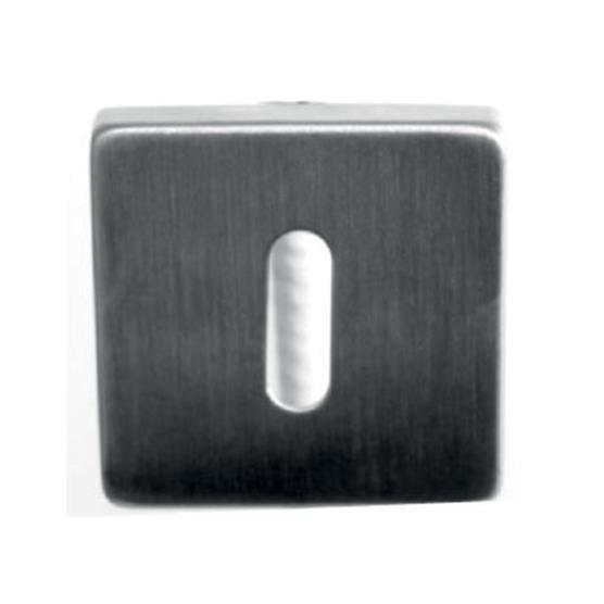 Paire de Rosaces Carr/ées trou pour Cylindre Inox 304