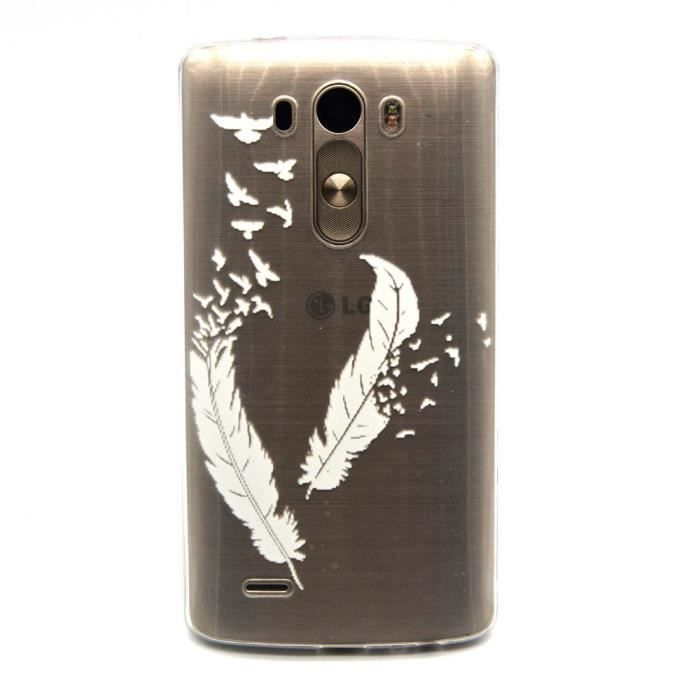 COQUE - BUMPER JAMIE LG G3 Plume Coque Cover Case Soft Gel Silico