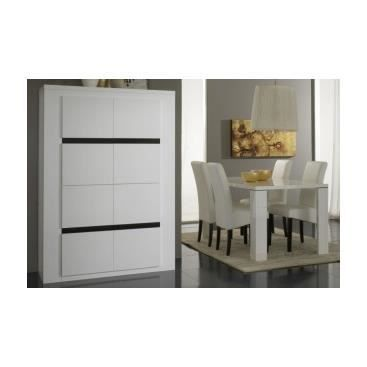 vaisselier laqu noir et blanc clarato achat vente. Black Bedroom Furniture Sets. Home Design Ideas