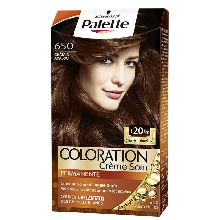 coloration saint algue palette crme colorante durable n650 - Coloration Chatain Acajou