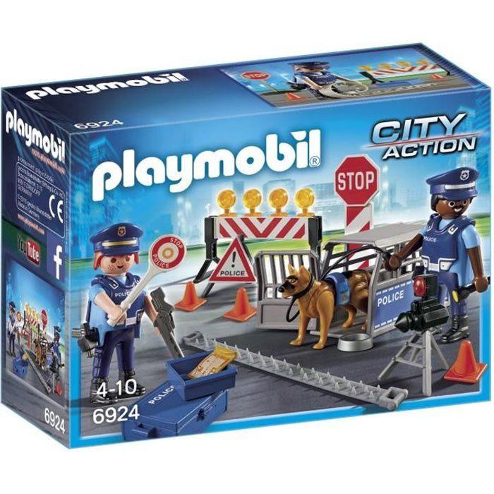 UNIVERS MINIATURE PLAYMOBIL 6924 - City Action - Barrage de Police
