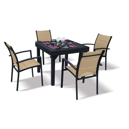 table et chaise de jardin ensemble modulo blatt achat vente salon de jardin table et. Black Bedroom Furniture Sets. Home Design Ideas