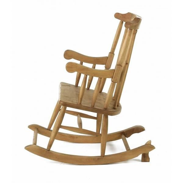 rocking chair en pin massif achat vente fauteuil cdiscount. Black Bedroom Furniture Sets. Home Design Ideas