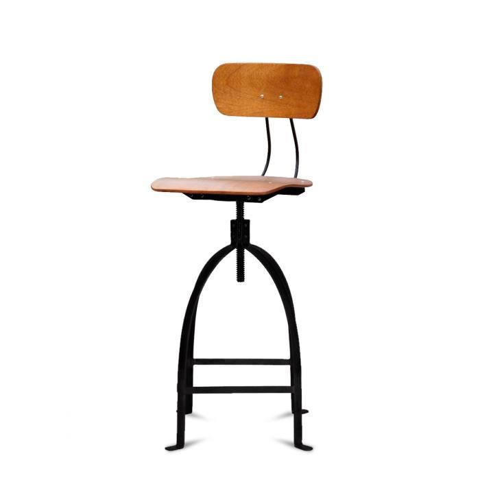 tabouret de bar industriel vis jb pennel coul achat vente tabouret de bar tabouret de. Black Bedroom Furniture Sets. Home Design Ideas