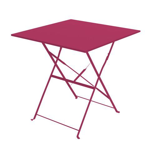 Table de jardin pliante camarque 70x70cm rouge achat - Table de bridge pliante ...