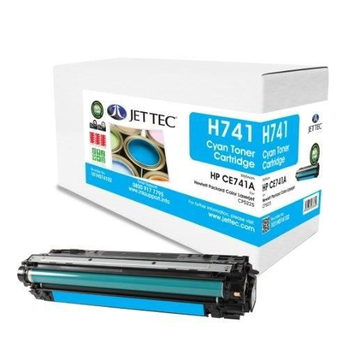 jet tec ce741a cartouche de toner laser remanufactur e pour hp ce741a 7300 pages cyan prix pas. Black Bedroom Furniture Sets. Home Design Ideas