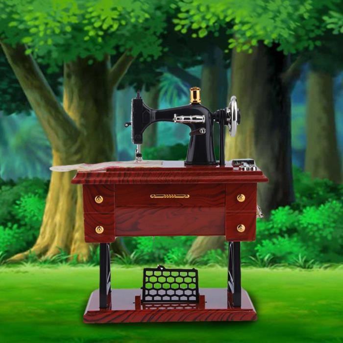 Bo/îte /à Musique Vintage Mini Machine /à Coudre /à Coudre m/écanique m/écanique bo/îte /à Musique Cadeau d/écoration de Table Jouet Cadeau pour Enfant Enfants