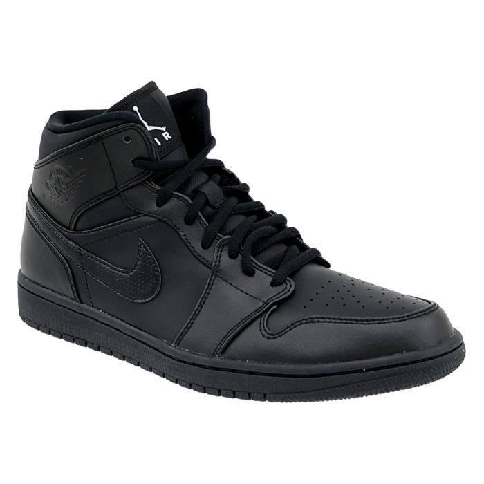 design intemporel 38f0e 913e5 Air Jordan 1 Mid 554724-034 Homme Baskets Noir