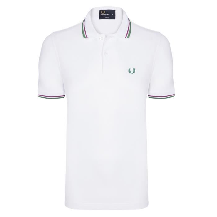 Fred Perry Homme Polo Slim Fit Manches Courtes