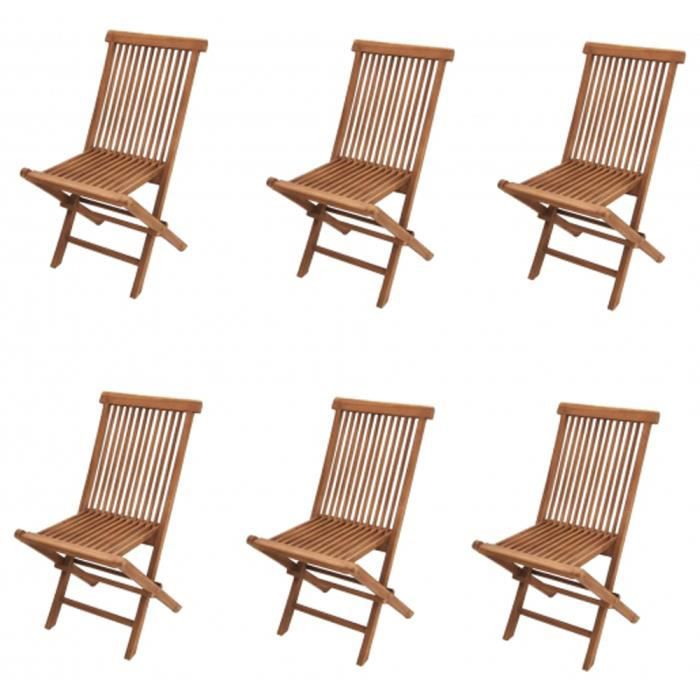 lot de 6 chaises pliante de jardin modena h90 x p62 x l45 cm achat vente fauteuil jardin 6. Black Bedroom Furniture Sets. Home Design Ideas