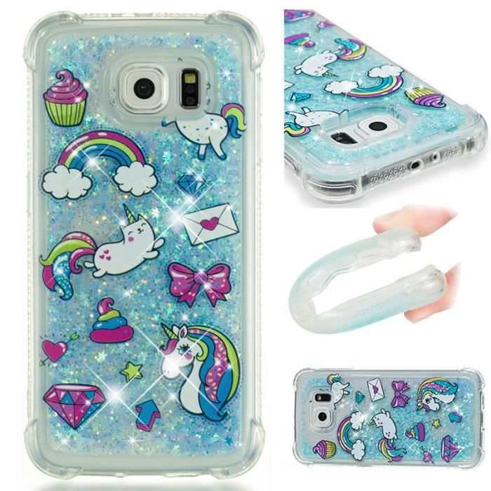 coque galaxy s6 edge licorne
