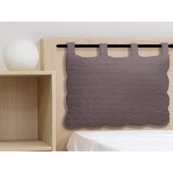 t te de lit en coton 50x70 cm boutis gris t te de lit en. Black Bedroom Furniture Sets. Home Design Ideas