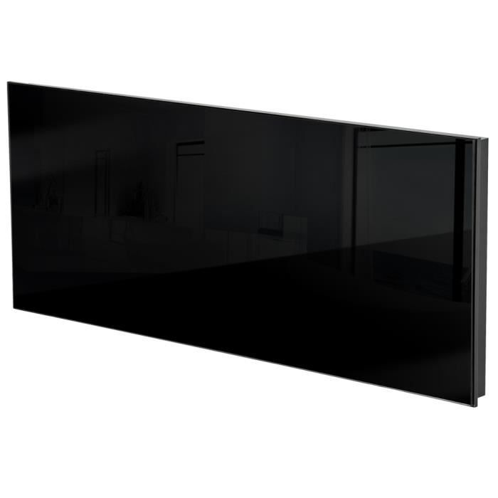 chauffage lectrique mural rayonnant infrarouge en verre. Black Bedroom Furniture Sets. Home Design Ideas
