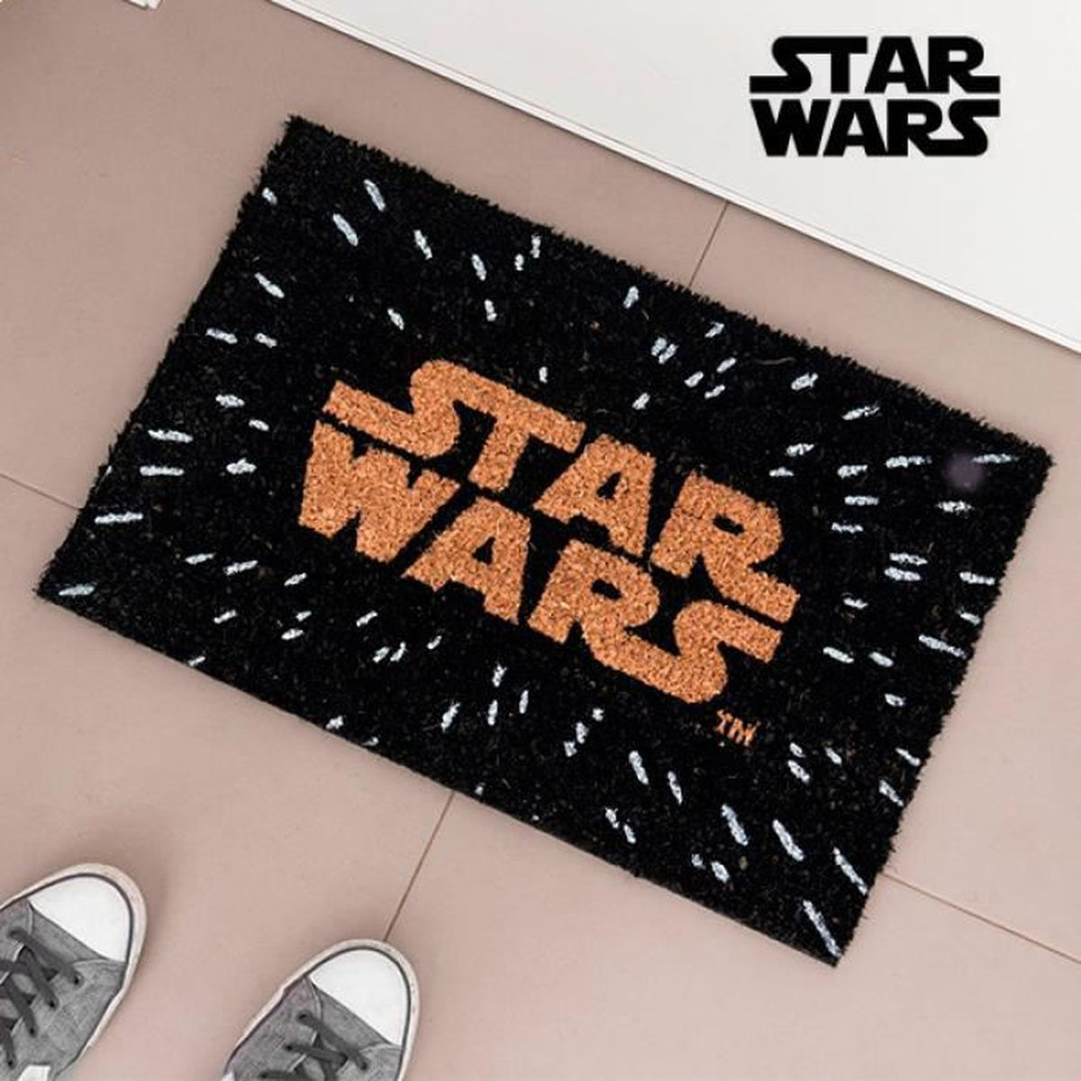Polyester 40/x 60/x 1/cm Multicolore Star Licensing Wars Tapis